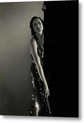 Mary Duncan Wearing A Sequin Dress Metal Print by Edward Steichen