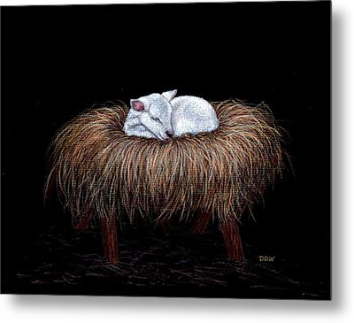 Metal Print featuring the painting Mary Had A Little Lamb by Dee Dee  Whittle