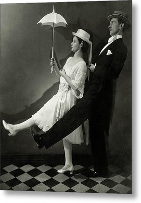 Mary Hay And Clifton Webb Dancing Metal Print by Edward Steichen