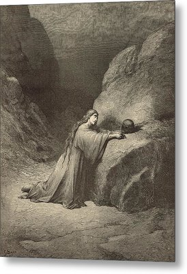 Mary Magdalene Metal Print by Antique Engravings