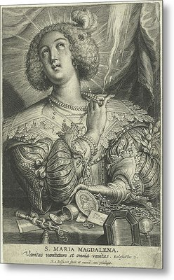 Mary Magdalene Gets Rid Of Its Wealth Metal Print