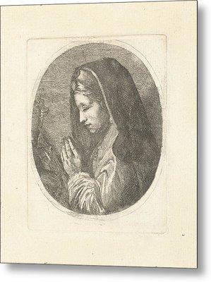 Mary Magdalene In Prayer, Louis Bernard Coclers Metal Print