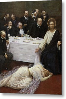 Mary Magdalene In The House Of The Pharisee Metal Print