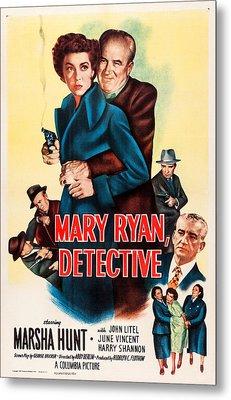 Mary Ryan, Detective, Us Poster Metal Print