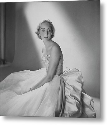 Mary Sargent Ladd Wearing A Tulle Dress Metal Print