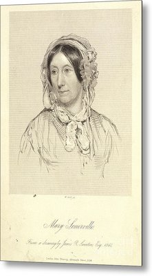 Mary Sommerville Metal Print by British Library