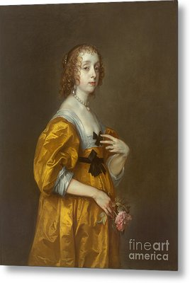 Mary Villiers Lady Herbert Of Shurland Metal Print