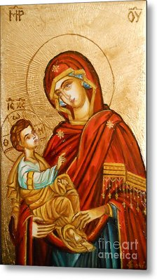 Mary With Jessus R.1 Metal Print