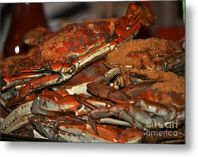Maryland Crabs Metal Print