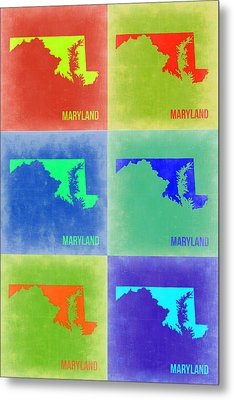 Maryland Pop Art Map 2 Metal Print