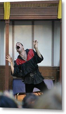 Maryland Renaissance Festival - Johnny Fox Sword Swallower - 1212114 Metal Print by DC Photographer