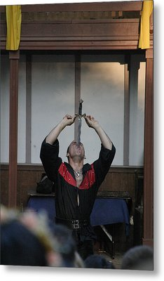 Maryland Renaissance Festival - Johnny Fox Sword Swallower - 1212124 Metal Print by DC Photographer