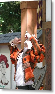 Maryland Renaissance Festival - Johnny Fox Sword Swallower - 121215 Metal Print by DC Photographer