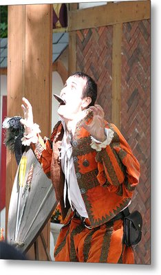 Maryland Renaissance Festival - Johnny Fox Sword Swallower - 121221 Metal Print by DC Photographer