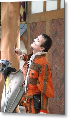 Maryland Renaissance Festival - Johnny Fox Sword Swallower - 121224 Metal Print by DC Photographer