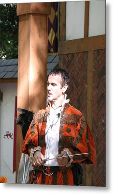 Maryland Renaissance Festival - Johnny Fox Sword Swallower - 121228 Metal Print by DC Photographer