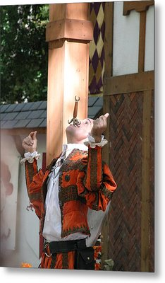 Maryland Renaissance Festival - Johnny Fox Sword Swallower - 121233 Metal Print by DC Photographer