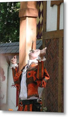 Maryland Renaissance Festival - Johnny Fox Sword Swallower - 121234 Metal Print