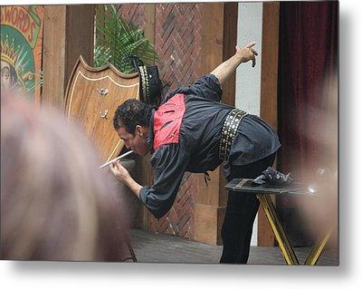 Maryland Renaissance Festival - Johnny Fox Sword Swallower - 121274 Metal Print by DC Photographer