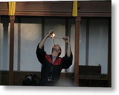 Maryland Renaissance Festival - Johnny Fox Sword Swallower - 121292 Metal Print by DC Photographer