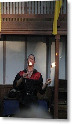 Maryland Renaissance Festival - Johnny Fox Sword Swallower - 121296 Metal Print by DC Photographer