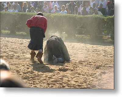 Maryland Renaissance Festival - Jousting And Sword Fighting - 1212100 Metal Print by DC Photographer