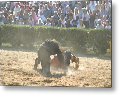 Maryland Renaissance Festival - Jousting And Sword Fighting - 1212102 Metal Print by DC Photographer