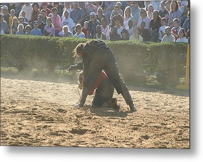 Maryland Renaissance Festival - Jousting And Sword Fighting - 1212105 Metal Print by DC Photographer