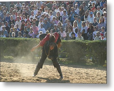 Maryland Renaissance Festival - Jousting And Sword Fighting - 1212108 Metal Print