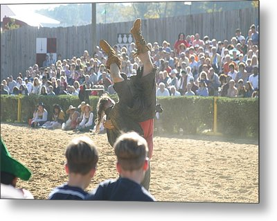Maryland Renaissance Festival - Jousting And Sword Fighting - 1212112 Metal Print by DC Photographer