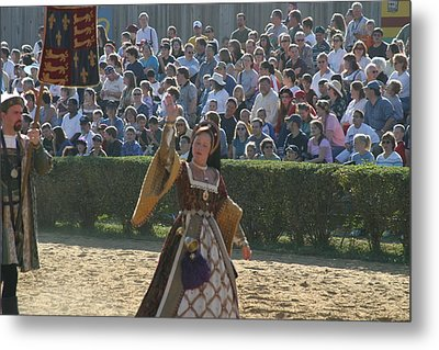 Maryland Renaissance Festival - Jousting And Sword Fighting - 1212117 Metal Print by DC Photographer