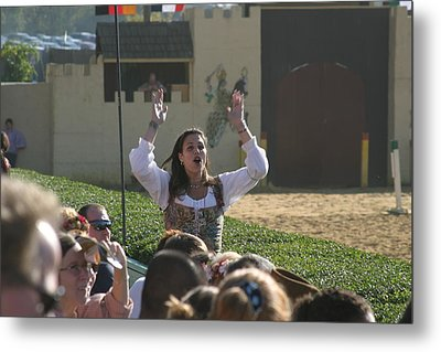 Maryland Renaissance Festival - Jousting And Sword Fighting - 1212122 Metal Print by DC Photographer