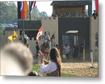 Maryland Renaissance Festival - Jousting And Sword Fighting - 1212125 Metal Print