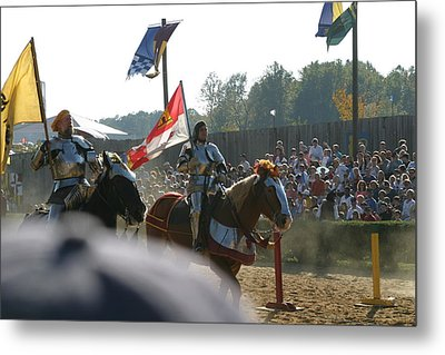 Maryland Renaissance Festival - Jousting And Sword Fighting - 1212129 Metal Print by DC Photographer