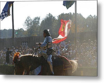 Maryland Renaissance Festival - Jousting And Sword Fighting - 1212131 Metal Print by DC Photographer