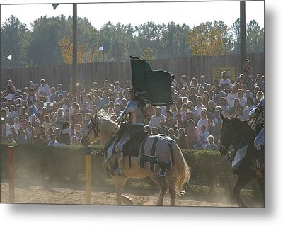 Maryland Renaissance Festival - Jousting And Sword Fighting - 1212132 Metal Print by DC Photographer