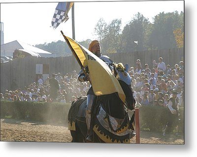 Maryland Renaissance Festival - Jousting And Sword Fighting - 1212135 Metal Print by DC Photographer