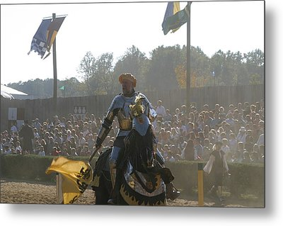 Maryland Renaissance Festival - Jousting And Sword Fighting - 1212136 Metal Print by DC Photographer