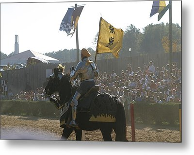 Maryland Renaissance Festival - Jousting And Sword Fighting - 1212138 Metal Print by DC Photographer