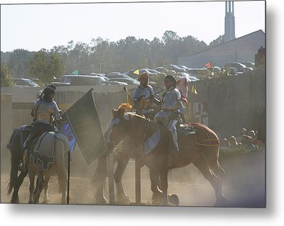 Maryland Renaissance Festival - Jousting And Sword Fighting - 1212140 Metal Print by DC Photographer