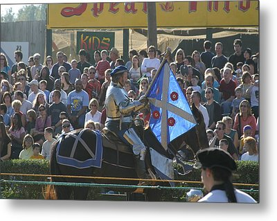 Maryland Renaissance Festival - Jousting And Sword Fighting - 1212151 Metal Print