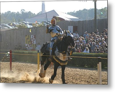 Maryland Renaissance Festival - Jousting And Sword Fighting - 1212155 Metal Print