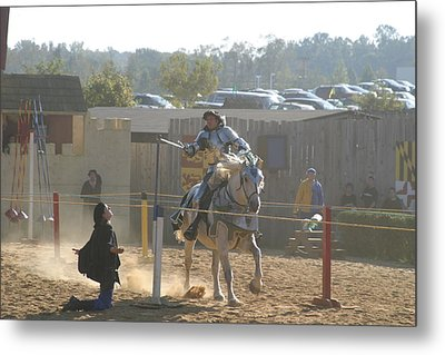 Maryland Renaissance Festival - Jousting And Sword Fighting - 1212156 Metal Print by DC Photographer