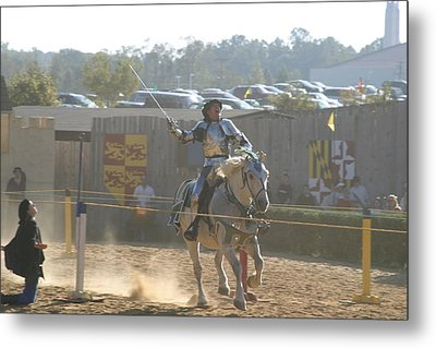 Maryland Renaissance Festival - Jousting And Sword Fighting - 1212157 Metal Print