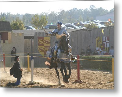 Maryland Renaissance Festival - Jousting And Sword Fighting - 1212160 Metal Print by DC Photographer