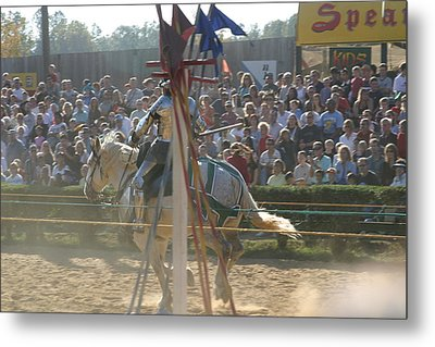 Maryland Renaissance Festival - Jousting And Sword Fighting - 1212166 Metal Print by DC Photographer