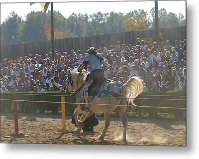 Maryland Renaissance Festival - Jousting And Sword Fighting - 1212167 Metal Print