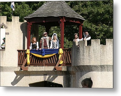 Maryland Renaissance Festival - Jousting And Sword Fighting - 1212170 Metal Print by DC Photographer