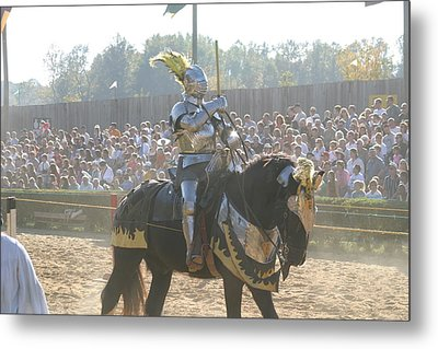 Maryland Renaissance Festival - Jousting And Sword Fighting - 1212171 Metal Print by DC Photographer