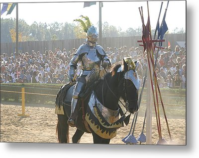 Maryland Renaissance Festival - Jousting And Sword Fighting - 1212172 Metal Print by DC Photographer